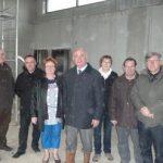M. Valembois visite le chantier de construction de la salle socioculturelle 03/04/2013