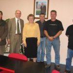 Visite du Sous-Préfet M. Bernard 11/2005